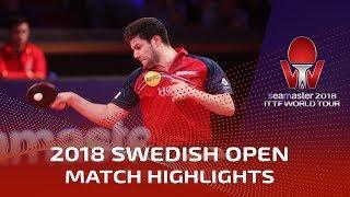 Dimitrij Ovtcharov vs Zhou Qihao | 2018 ITTF Swedish Open Highlights (1/4)