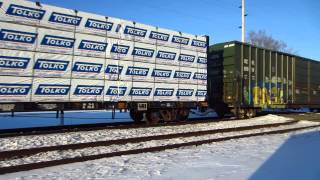 EJ&E 666 working hard to move the GTW local freight train