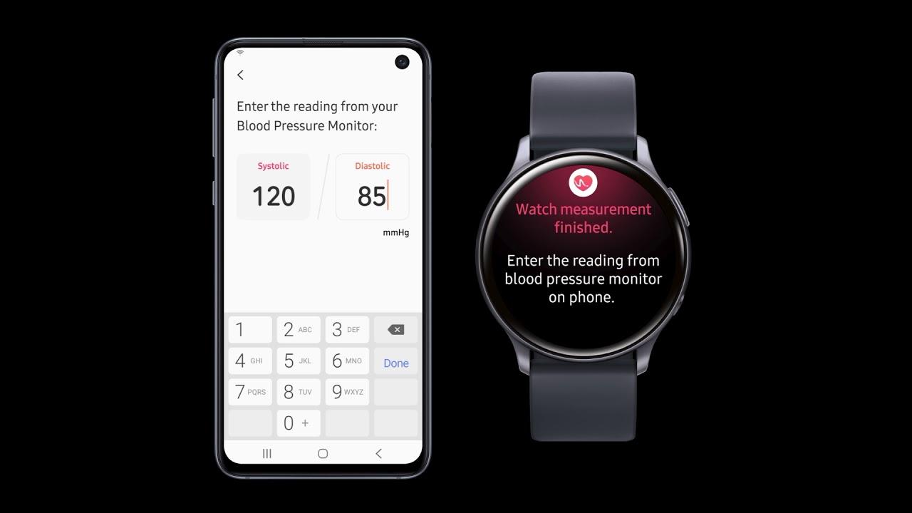 check blood pressure galaxy watch active