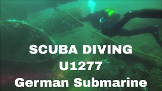 Scuba Diving the U1277 German Submarine from World War 2 in Portugal