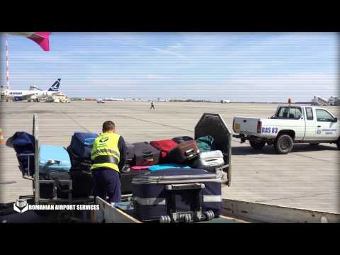Romanian Airport Services OTOPENI Aircraft Baggage Load1