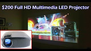 $200 YG600 FHD 1080P Multimedia LED Video Projector