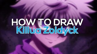 HOW TO DRAW KILLUA FROM HUNTER X HUNTER