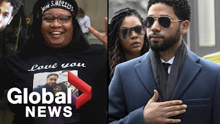 Jussie Smollett supporters demonstrate outside Illinois courthouse