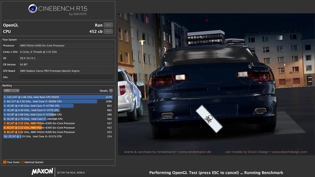 AMD FX 6300 CINEBENCH R15 OverClock BUSRATIO in HIGH SIERRA HACKINTOSH