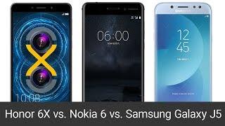 Honor 6X vs. Nokia 6 vs. Samsung Galaxy J5 2017 (srovnání)