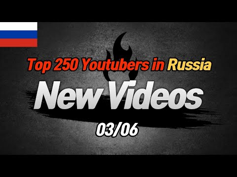 Top 250 Youtubers in Russia [New Vidoes] (03/06)