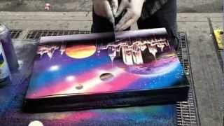 Street Painter Has Mad Skills - Spray Painting A Masterpiece