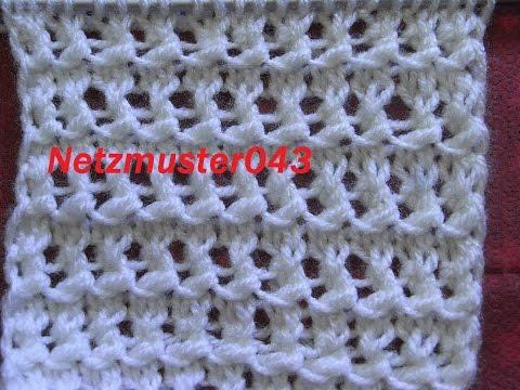 Ajourmuster *043 Netzmuster*Muster für Pullover*Mütze*Tutorial Handarbeit Kreativ