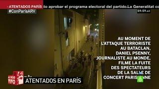 Imágenes muestran la huida de supervivientes del ataque a la sala Bataclan