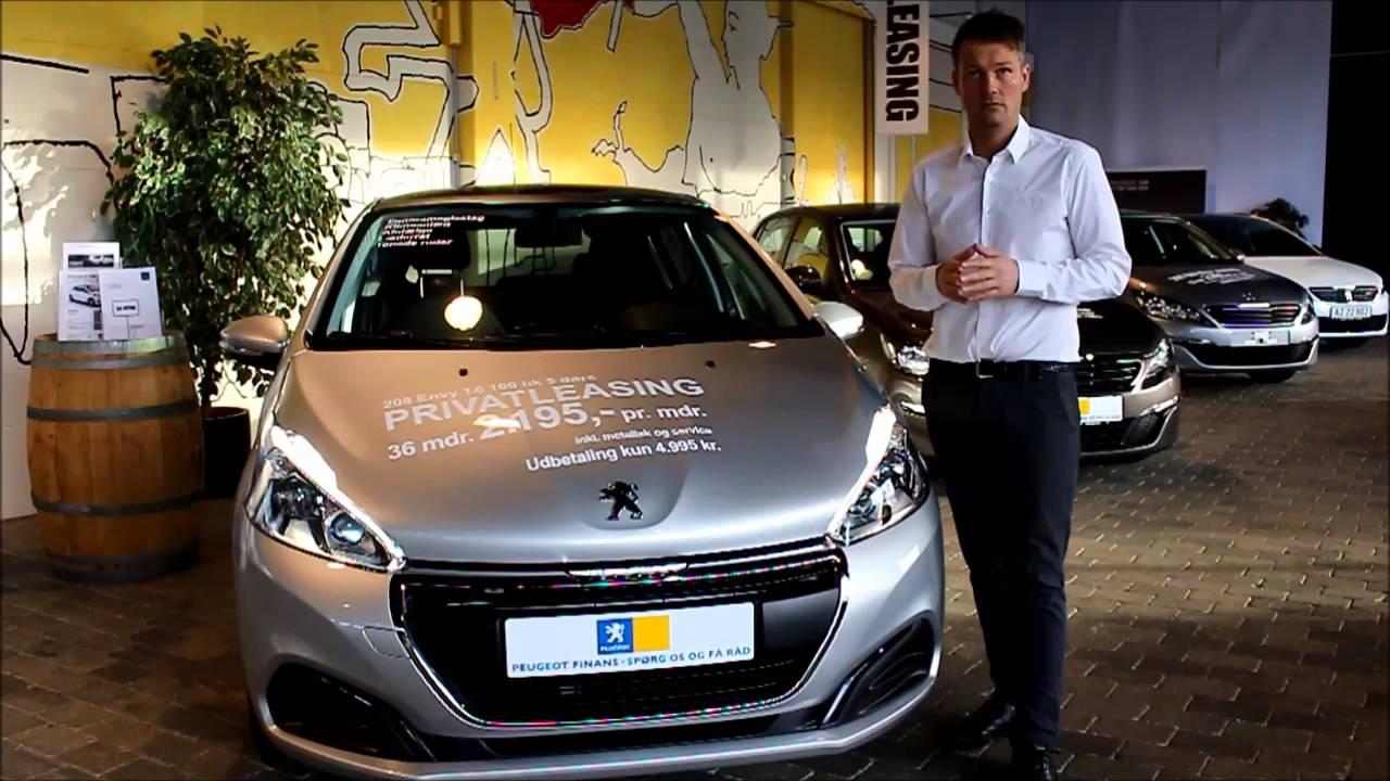 Peugeot 208 Envy luksus privatleasing – Med lav udbetaling og månedlig ydelse! - YouTube