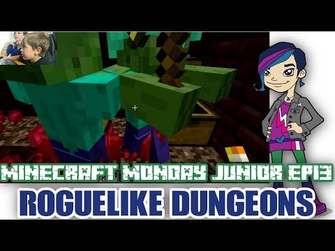 Minecraft Monday Junior EP13 – Roguelike Dungeons Mod!