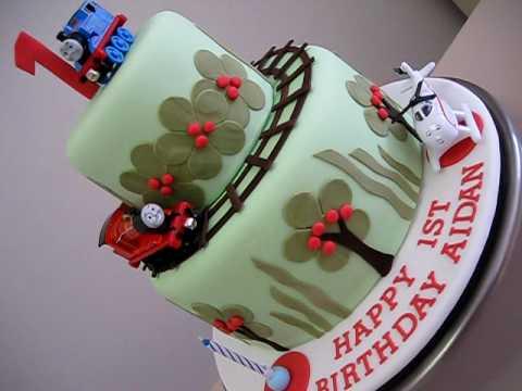 Thomas Train Cake For A First Birthday Boy Youtube