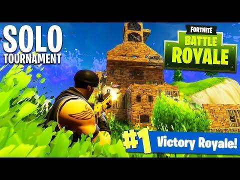 FORTNITE SOLO INVITATIONAL TOURNAMENT! (Fortnite: Battle Royale YouTuber/Streamer Tournament)