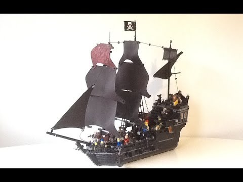 LEGO Black Pearl Pirates of the Caribbean MOC! - REMAKE MONTH! - YouTube
