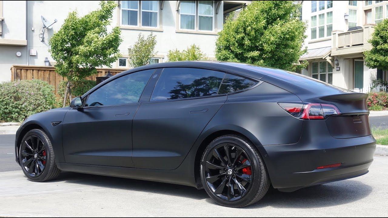 Tesla Model 3 - XPEL Stealth - like the Matte Black Model 3 Prototype but  Better!