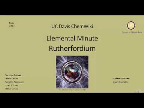 Chemwiki Elemental Minute: Rutherfordium (Chemical Properties)