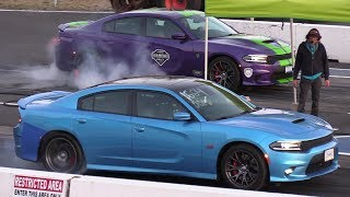 Hellcat Charger vs SRT 392 Charger - drag race