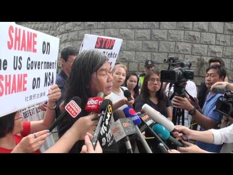 HK Councilor Leung Kwok Hung LongHair Support Edward Snowden! 2/2