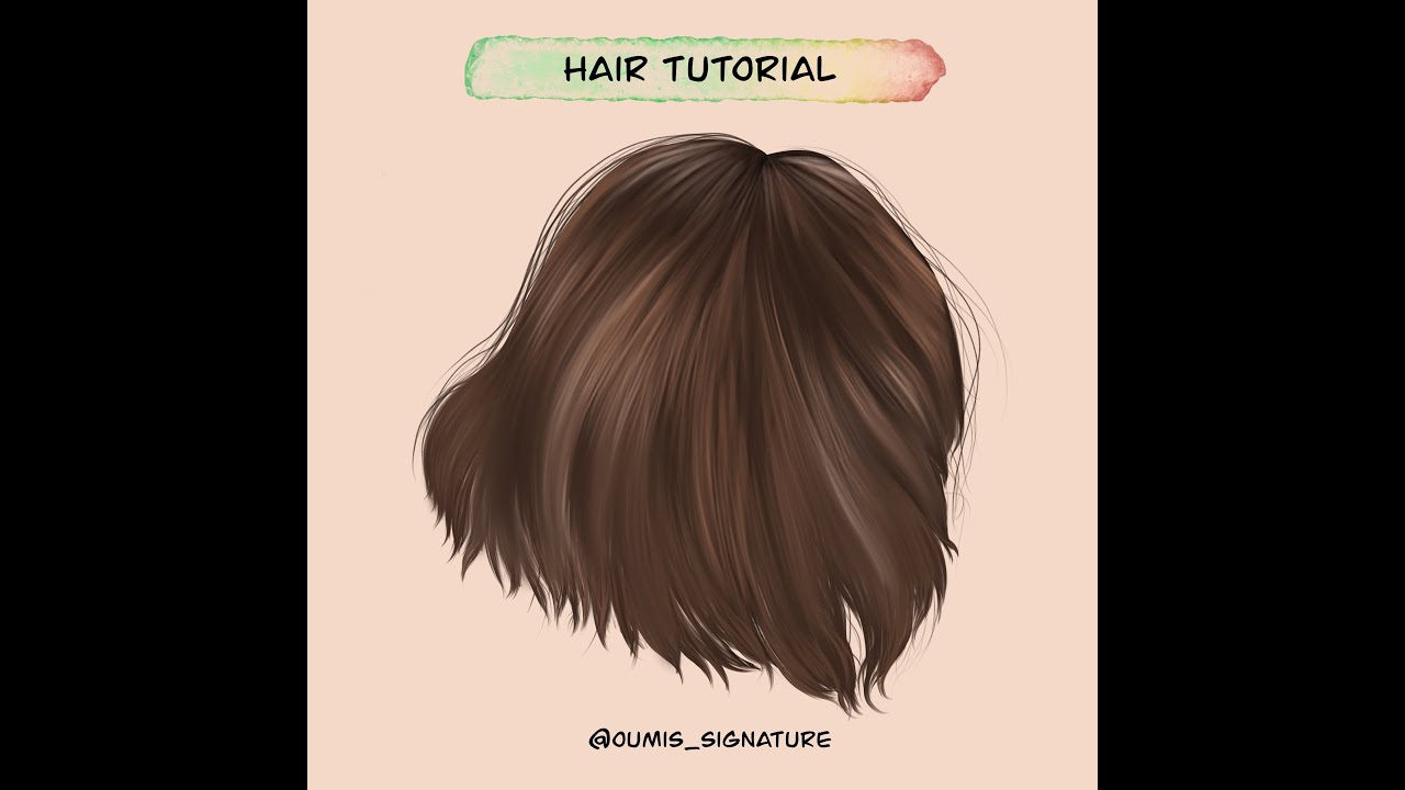 HOW TO DRAW HAIR: STEP BY STEP In PROCREATE - YouTube