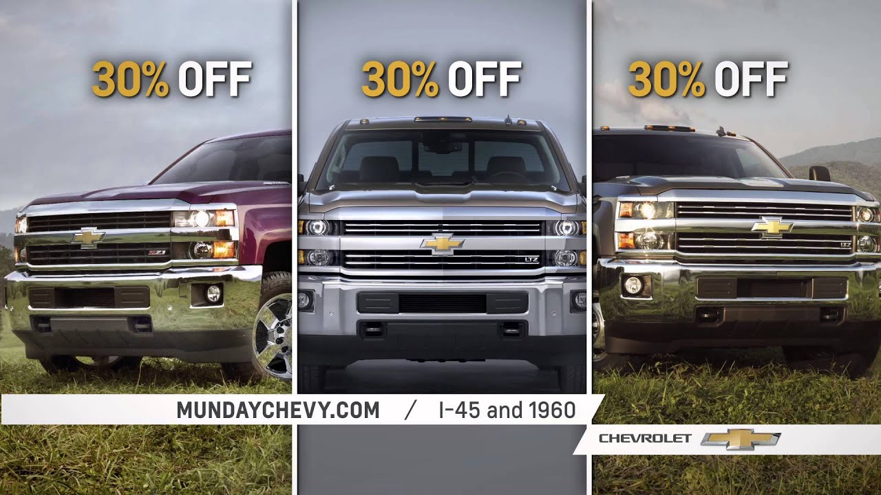 30 percent off from texas number 1 dealer munday chevrolet youtube