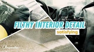 Filthy Van Interior Detail - Satisfying Deep Cleaning
