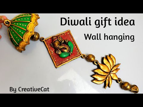 Diwali gift idea/Wall hanging/Home decor/Art and craft/Best out of waste