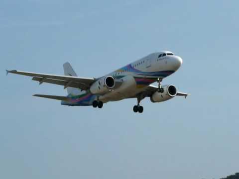 Landing of an Airbus 320 (319) at Koh Samui Airport