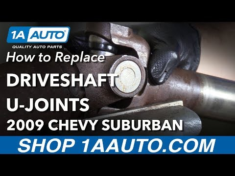 How to  Replace Driveshaft U Joints 07-14 Chevy Suburban