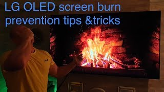 LG OLED screen burn prevention tips and trick