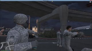 GTA 5 PC RIOT & BODY GUARD MOD | Army Trying To Save The Police Station But Tear Gas Isnt Working