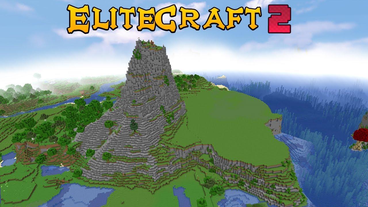Elitecraft 2 Ep2 - HICE UNA MONTAÑA Y UNA BASE