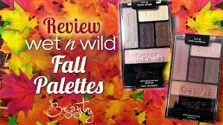 Wet n Wild Fall Palettes Review and swatches (a dupe for Urban Decay?) Thumbnail