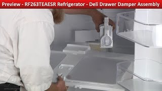 Deli Drawer Damper Assembly - Rf263teaesr Samsung Refrigerator - Preview