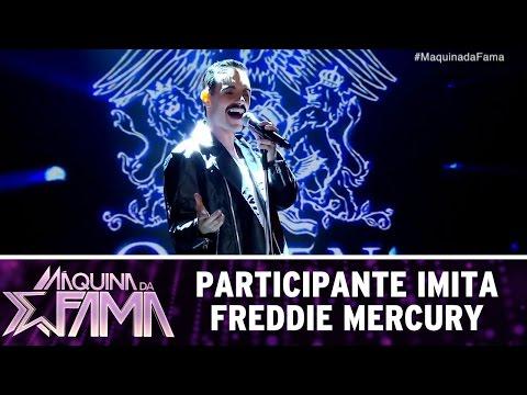 Participante surpreende ao interpretar Freddie Mercury | Máquina da Fama (10/04/17)