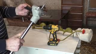 как сделать электробур для рыбалки своими руками