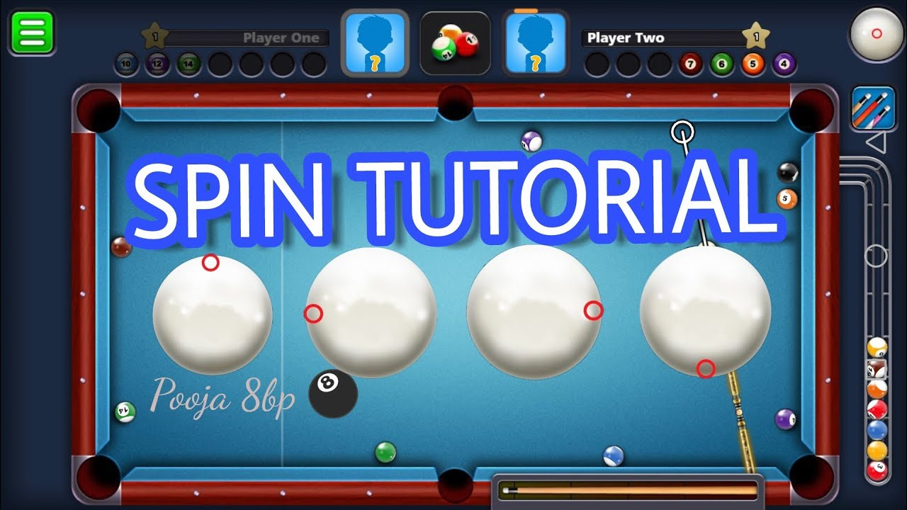 8 BALL POOL SPIN TUTORIAL| HOW TO USE SPIN IN 8 BALL POOL | BASIC 8 BALL  POOL SPIN CONTROL |