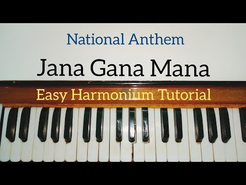 Jana Gana Mana National Anthem Harmonium Tutorial (Notes Sargam)