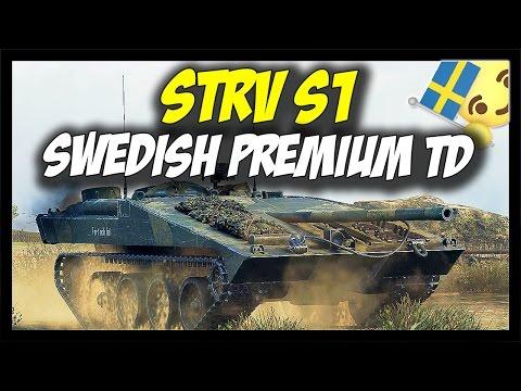 ► STRV S1 - New Tier 8 Swedish Premium Tank Destroyer - World of Tanks STRV S1 Gameplay