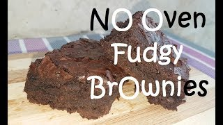 No Oven Fudgy Brownies | Fudgy Brownies recipe | improvised oven