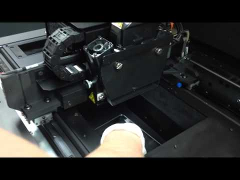OBJET 30 Pro removing 3D print and cleaning the head tutorial