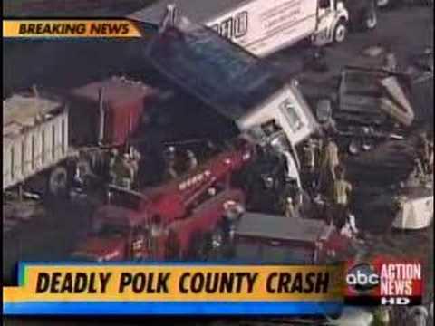 Up To 100 Vehicle Crash I-4 Polk County Florida