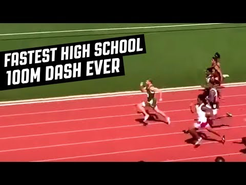 FASTEST HIGH SCHOOL 100M DASH EVER RECORDED AT 9.98 SECONDS!
