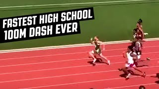 FASTEST HIGH SCHOOL 100M DASH EVER RECORDED AT 9 98 SECONDS