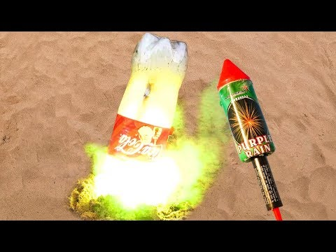 Coca Cola And Fanta Underground Experiment With Firecrackers