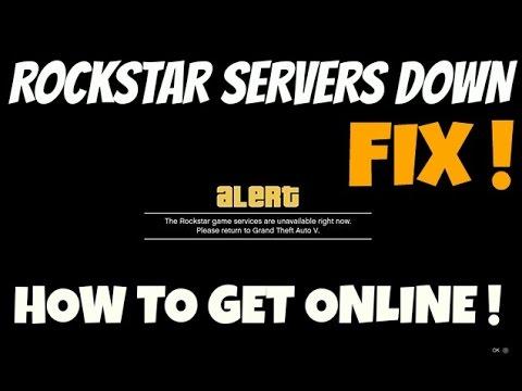 GTA 5 Online How to join GTA Online when Rockstar Servers are down (HEISTS UPDATE)