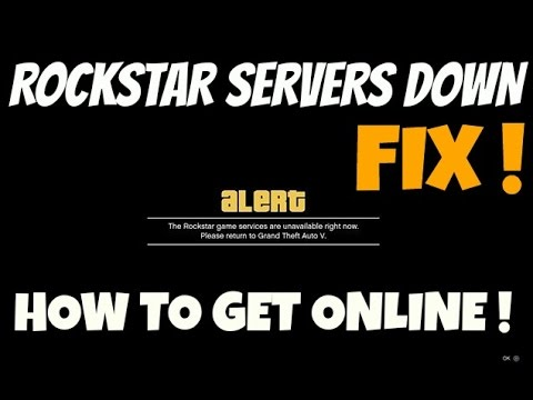 GTA 5 Online How to join GTA Online when Rockstar Servers are down (HEISTS UPDATE)