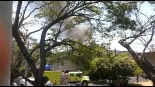 Incendio en urbanización Santa Mónica de Neiva