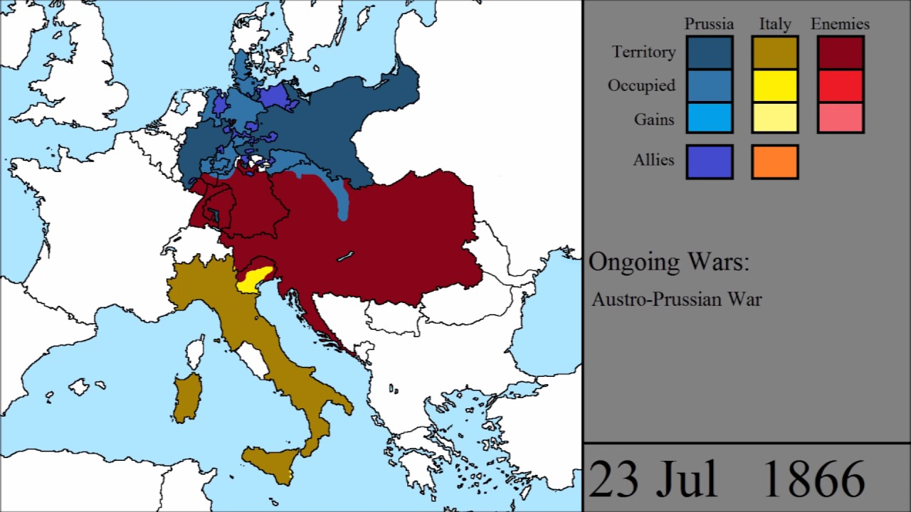 Map Of Germany And Italy.The Unifications Of Germany And Italy Every Day