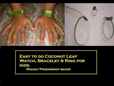 Watch/Ring/Bracelet from Coconut leaf| Coconut leaf craft| Kids gift / Tamil/ V33|